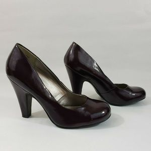 Candie's Purple Patent Leather Pumps Rounded Toe